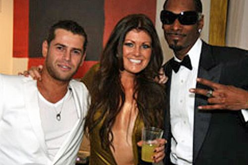 Tsvetnenko and his wife Lydia with rapper Snoop Dogg - just one of the many celebrities they mingled with.