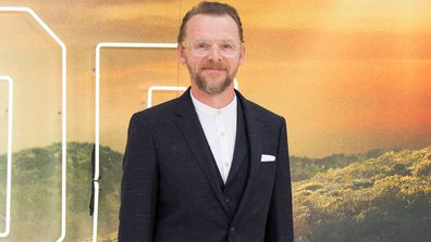 "Simon Pegg attends the ""Once Upon a Time... in Hollywood"" UK Premiere at Odeon Luxe Leicester Square on July 30, 2019 in London"