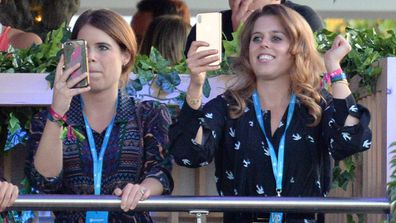 Princess Beatrice Princess Eugenie Celine Dion London