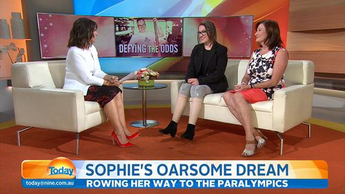 Sophie and Carolyn Delezio in the TODAY studio. (9NEWS)
