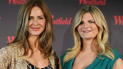 Trinny Woodall and Susannah Constantine pose at the Westfield Fashion Therapy launch event at the Sydney Cricket Ground on September 28, 2010 in Sydney, Australia.