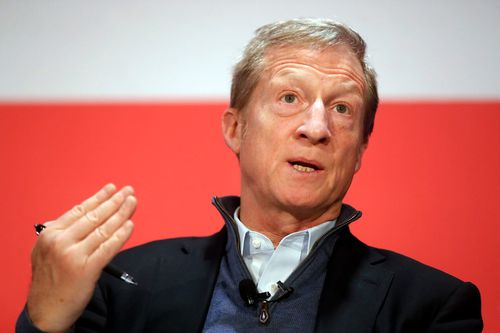 """Billionaire Tom Steyer's new Need to Impeach campaign ad features him saying Democrats """"just need the will"""" to act."""