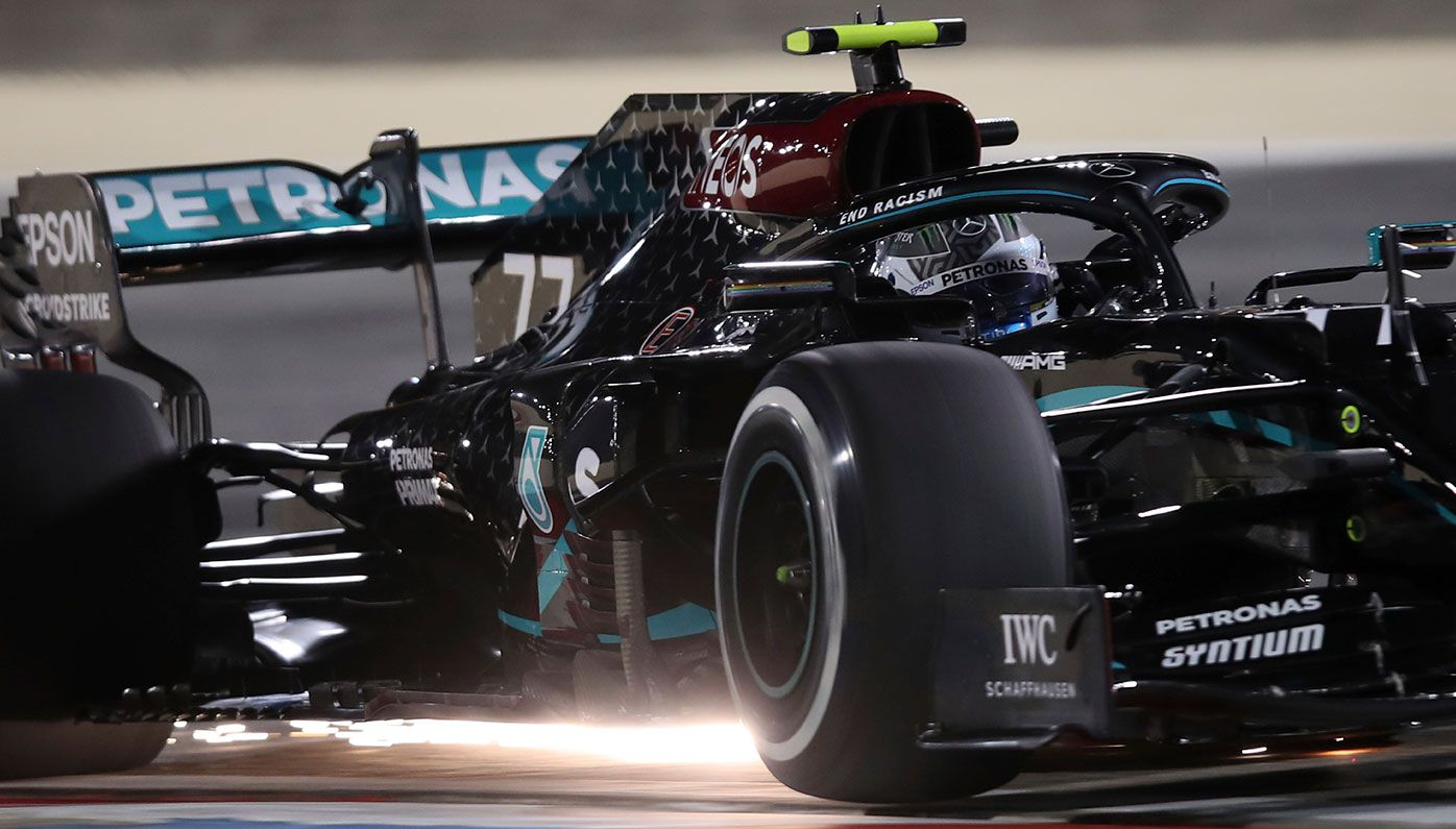 Valtteri Bottas in action in Bahrain.