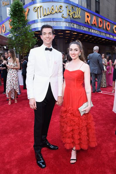 Anna Marie Tendler and John Mulaney attend the 2017 Tony Awards at Radio City Music Hall on June 11, 2017 in New York City.