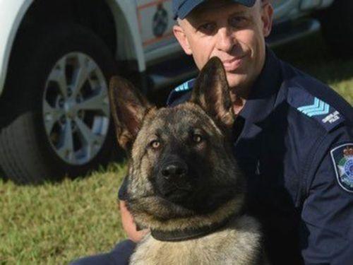 Police dog Rambo and his handler.