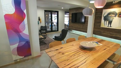 Matt and Kim's Living and Dining on The Block Sky High