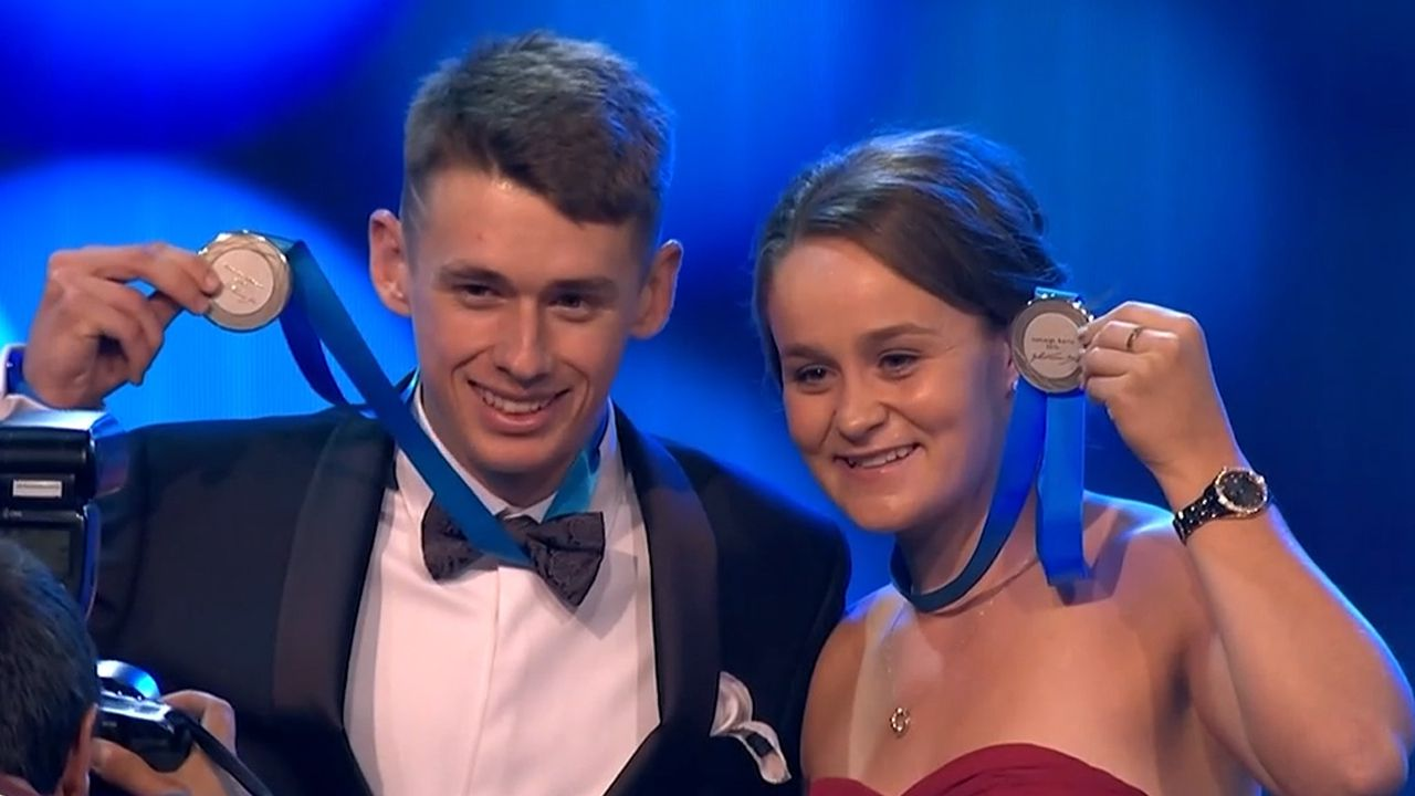 Barty and de Minaur share Newcombe Medal