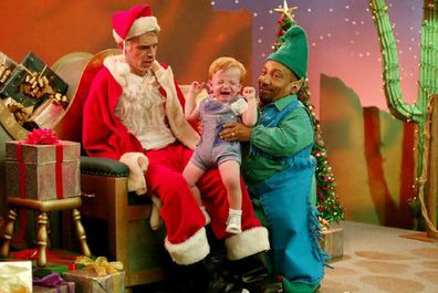 Bad Santa with crying child