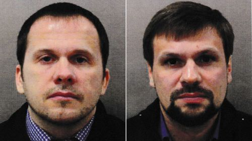 Two men traveling under the names Alexander Petrov and Ruslan Boshirov were allegedly involved in the near-fatal poisoning of Sergei Skripal and his daughter in Salisbury in 2018.