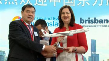 VIDEO: China Eastern Airlines arrives in Queensland