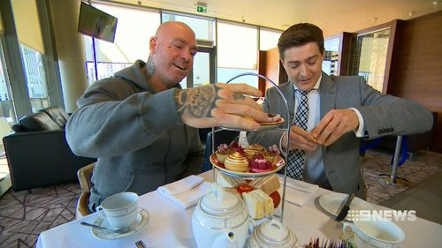 He's the hardest puncher in the world - who enjoys a spot of high tea. (9NEWS)