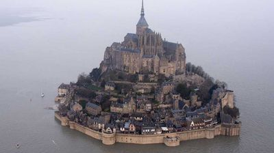 Mont Saint-Michel dates back to the fifth century, covers 100 hectares in size and has a population of 44, according to the most recent figures last tallied in 2009.