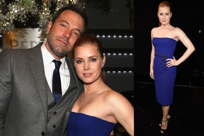 They may not have walked the red carpet, but how cute do Ben Affleck and Amy Adams look hanging out together backstage?!