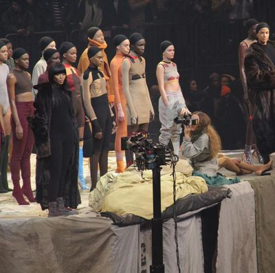 Artist Vanessa Beecroft recorded the show as it unfolded.
