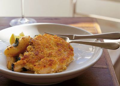 """<a href=""""http://kitchen.nine.com.au/2016/05/19/15/30/neil-perry-crumbed-pork-cutlet-with-sauted-apples-potatoes-and-sage"""" target=""""_top"""">Neil Perry's crumbed pork cutlet with sautéed apples, potatoes and sage<br> </a>"""