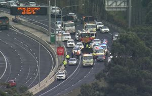 Man dies after being hit by ute on Sydney's M2 motorway