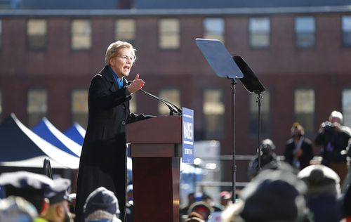 "Sen Warren delivered a sharp call for change at her presidential kickoff, decrying a ""middle-class squeeze"" that has left Americans crunched with ""too little accountability for the rich, too little opportunity for everyone else""."