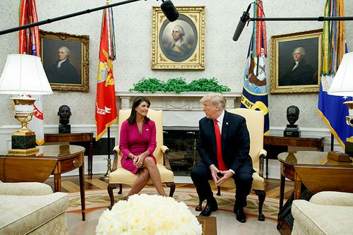 US Ambassador to the UN Nikki Haley says she and US President Donald Trump have 'solved a lot of problems'.