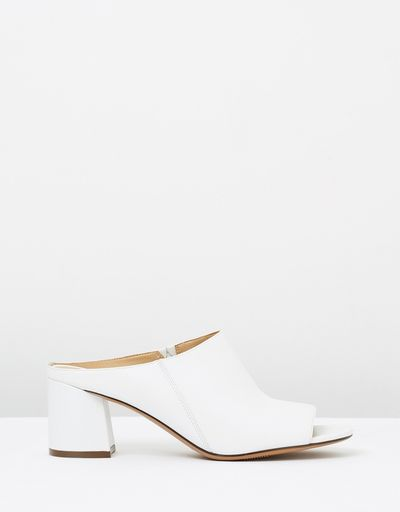 "<a href=""https://www.theiconic.com.au/cyprine-533368.html"" target=""_blank"">Naturalizer Cyprine Heels in White, $179.95</a><br>"