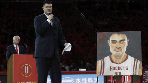 Retired Chinese great Yao Ming is a Rockets legend.