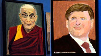 The Dalai Lama and Canadian PM Stephen Harper. (AAP)