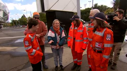 It's been almost a year since William Callaghan survived two freezing nights lost in the bush.The teenager met some of the team who helped save him today.