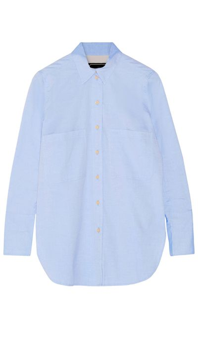 "<a href=""http://www.net-a-porter.com/product/562194/By_Malene_Birger/irizanna-cotton-oxford-shirt"" target=""_blank"">Shirt, $217.90, By Malene Birger at net-a-porter.com</a>"