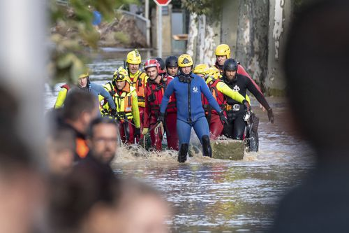 Rescuers have been working around the clock to get residents to safety around the Aude, France after the floods.