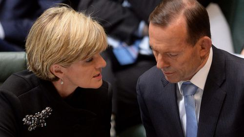 It was Julie Bishop who informed Tony Abbott he no longer had the support of the Liberal Party.