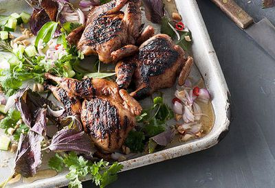 "Recipe: <a href=""http://kitchen.nine.com.au/2016/05/05/11/17/leanne-kitchen-and-antony-suvalkos-barbecued-fivespice-quail"" target=""_top"">Leanne Kitchen and Antony Suvalko's barbecued five-spice quail</a>"