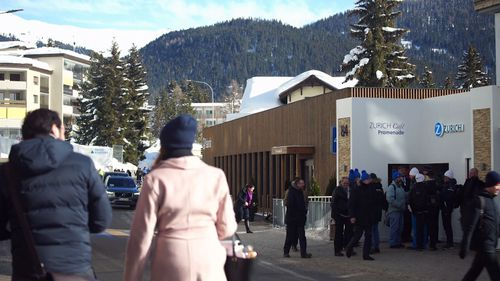 The suits have gone and skiers have returned to the slopes in the Swiss town