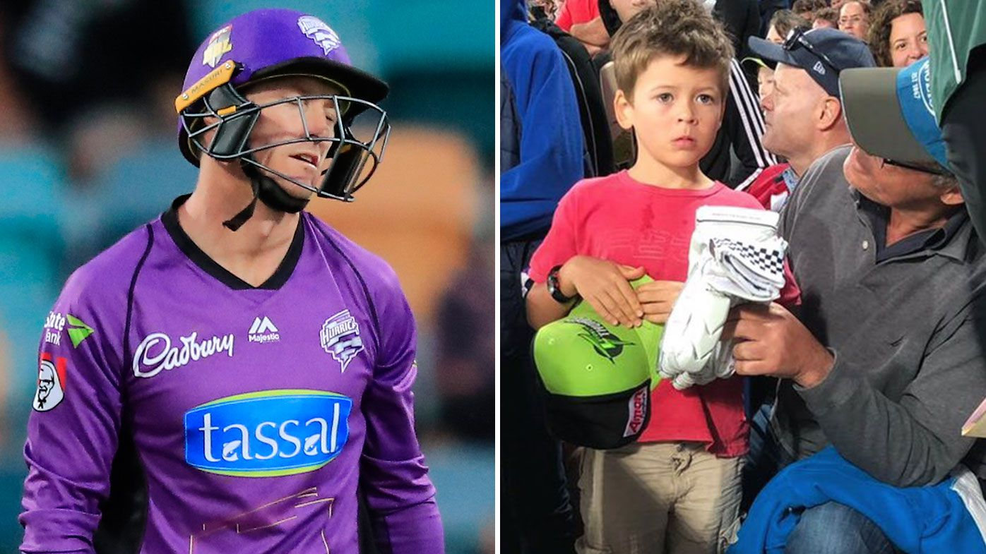 Daniel Sams and George Bailey's heartwarming moment with young BBL fan after brutal blow