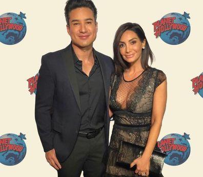 Mario Lopez and his wife Courtney Mazza Lopez.