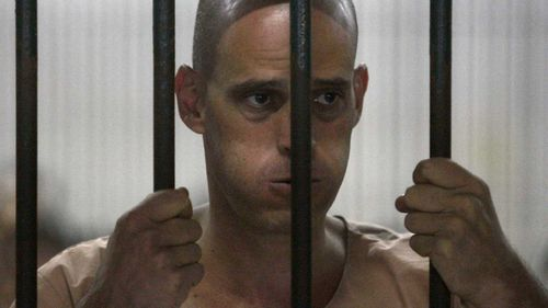 Harry Nicolaides in a Thai prison. (AAP)