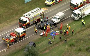 At least four injured in head-on car crash in Sydney's west