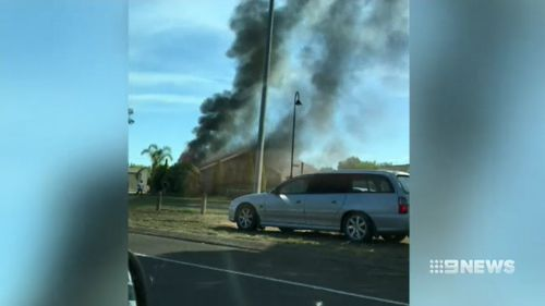 The blaze is believed to have been sparked by children playing with matches in a bedroom. Picture: 9NEWS.