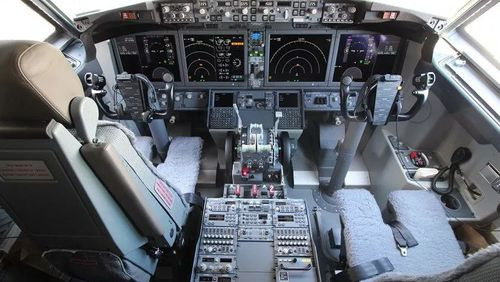 A look inside the cockpit of a Boeing 737 MAX8.