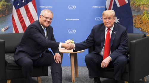 Prime Minister Scott Morrison is expected to urge the United States to soften its hardline stance on trade with China.