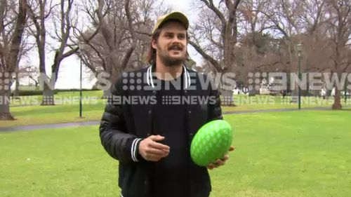 Boyd has now teamed up with Headspace to raise awareness for mental health. Picture: 9NEWS