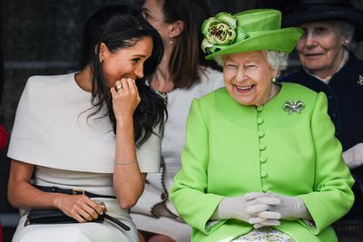 Meghan Markle and Queen Elizabeth II  make each other laugh.