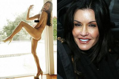The 55 year-old former supermodel stripped down to just a pair of high heels for Britain's <i>Closer</i> magazine.