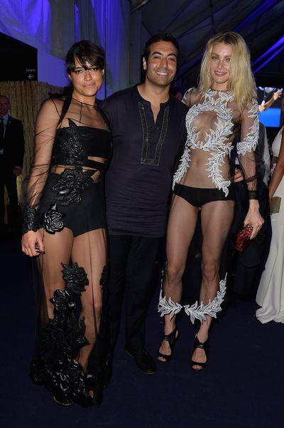 Michelle Rodriguez, Mohammed Al Turki and Jessica Stam