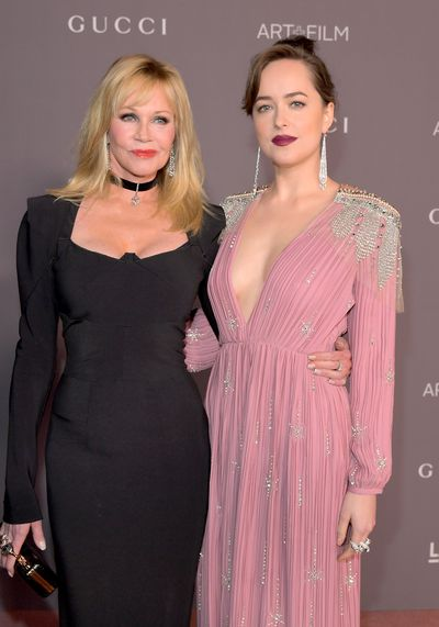 Melanie Griffith and Dakota Johnson.