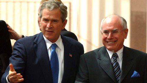 George W. Bush and John Howard in 2003. (AAP)