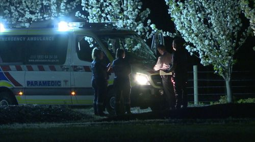 The woman died at the scene in Traralgon.