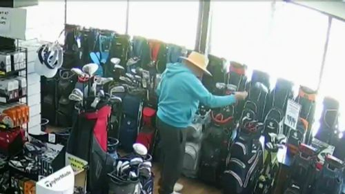 A Gold Coast Golf Club owner has hit out at an elderly would-be thief after they stole a $650 golf club from its store last month.