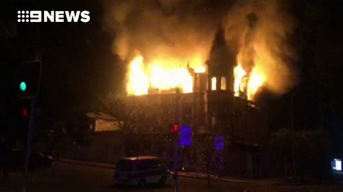 Flames tore through the historic building overnight.