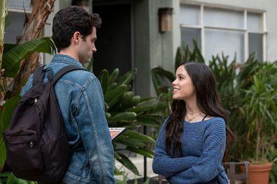 Penn Badgeley and Jenna Ortega in You Season 2