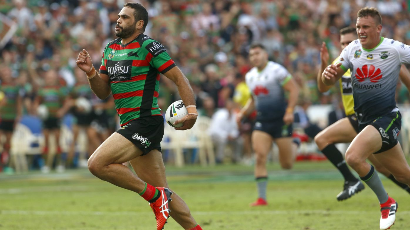 Emphatic Greg Inglis breaks record for most tries scored against Raiders
