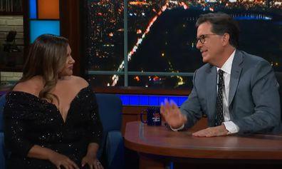 Mindy Kaling Stephen Colbert